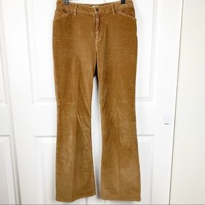 J.Jill Brown Stretch Corduroy Flared Pants